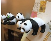 Cute Cartoon Panda Fridge Magnets,Set of 4
