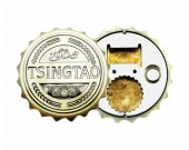 Fun kitchen beer cap bottle opener with refrigerator magnetic