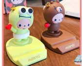 Cute happy cartoon animal desktop phone holder