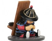 Cute ancient cartoon soldier mobile phone holder