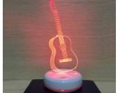 Beautiful colorful guitar night light warm gift
