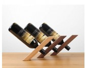 Japanese style simple support wood wine holder Bottle rack