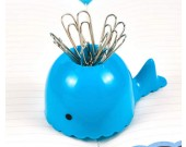 Cute cartoon blue whale paper clip magnetic organize storage