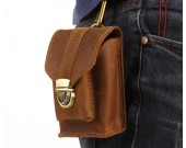 Classic vintage leather belt bag Cigarette bag