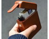 Exquisite luxury Genuine Cowhide Cigarette Case Can Put Lighter