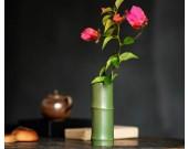 Pastoral green bamboo ceramic small vase