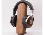 Brief Desktop Organize Wooden Headphone Stand Black Walnut Beech Holder