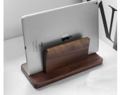 Classic Black Walnut Wooden Notebook & Ipad Storage Rack