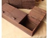 Vintage Paulownia Wooden Tabletop Jewelry Small Item Organize Storage Box