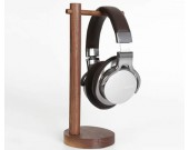 Simple Solid Wood Black Walnut Desktop Headphone Stand & Jewelry Storage Holder