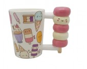 Cute cartoon ice cream smiley mug