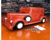 Creative classic car wooden handmade piggy bank Home decoration gift idea
