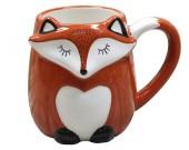 Cute cartoon fox ceramic cup Large capacity animal mug