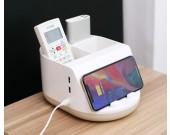 Creative remote control storage box mobile phone wireless charging HUB
