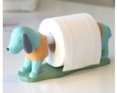 Cute cartoon dachshund dog rolled paper storage holer