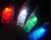 4pcs/Set  Led Laser Finger Light Beams Ring