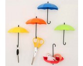 6pcs Umbrella Style Wall Mount Self Adhesive Wall hooks