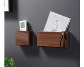 Creative Black Walnut Wooden Wall Storage Box Key Phone Organize Storage