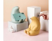 Cute Cartoon Groundhog Ceramic Phone Holder With Piggy Bank Function Nice Gift