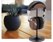 Simple Wooden Aluminum Alloy Combined With Desktop Headphones Storage Holder