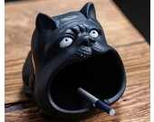 Funny Big Mouth Bulldog Ceramic Ashtray