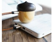 Acorn-Shaped Mini Wooden Bluetooth Speaker