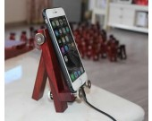 Adjustable Handmade Wooden Desktop Cellphone Tablet Stand Holder for Cellphones, iPhone