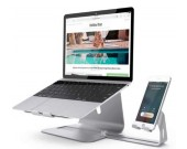 Aluminum Alloy Macbook Cooling Stand & Cell Phone Stand iPhone Stand
