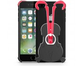 Aluminum Violin Bumper Frame Case With Ring Grip Stand for iPhone 8/8 Plus/7/7 Plus/6/6 Plus/6S/6S Plus