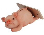 Animal Design Piggy Bank Cell Phone Stand Holder