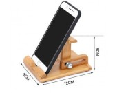 Bamboo Adjustable Multi-Angle Cell Phone iPad Stand Holder