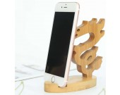 Bamboo Animal Shaped Mobile Phone iPad Holder Stand