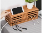 Rattan-weaved Cable Management Box Organizer