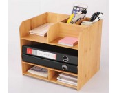 Bambooo Desk Office  Supplies Organizer
