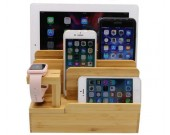 Bamboo Desktop Charger Station