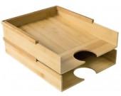 Bamboo Desktop Letter Tray Organizer