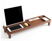 Bamboo Wooden Desktop Organizer Over the Keyboard