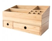 Bamboo Makeup Storage Drawer Organizer Jewelry Skincare Organizer