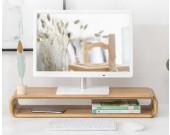 Bamboo Multi-Purpose Monitor Display Stand Enhancer Bracket