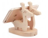 Wooden  Muntjac Deer Cell Phone Stand Charging Dock Holder
