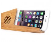 Bamboo Phone Sound Amplifier Trumpet Holder Amplifier Loudspeaker