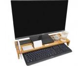 Bamboo Wood Computer Monitor Stand Riser