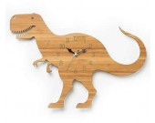 Bamboo Wood Dinosaur Wall Clock