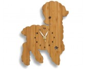 Bamboo Wood Sheep Wall Clock