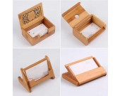 Bamboo Wooden Business Name Cards Display Stand Holder