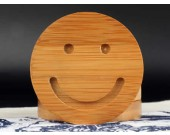Bamboo Smiley Face Coaster