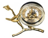 Bird Brass Desk Clock
