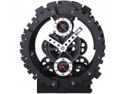 Black Maple's 10-Inch Moving Gear Desk Clock