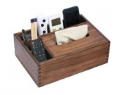 Black Walnut wood Multi-Function Tissue Box Cover Desktop Remote Control Holder Storage Box