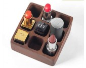 Black Walnut  Wooden Desktop Cosmetic Storage Box Dressing Table Lipstick Protection Skin Product Storage Rack